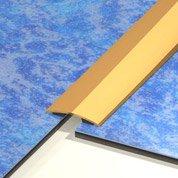 Barre de seuil laiton doré L.83 x l.3 cm