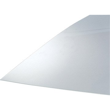 Plaque polystyrène transparent lisse, L.50 x l.25 cm x Ep.2.5 mm