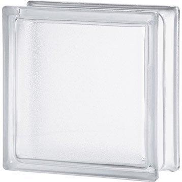 Brique de verre, transparent lisse double face