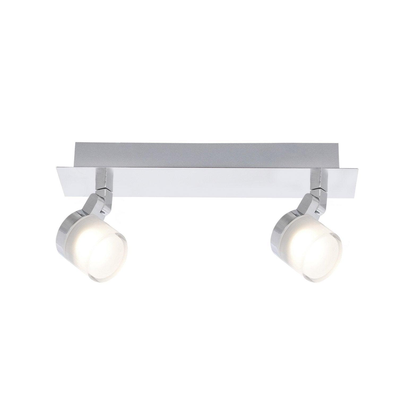 rampe 2 spots coos led 2 x 4 5 w led int gr e blanc. Black Bedroom Furniture Sets. Home Design Ideas