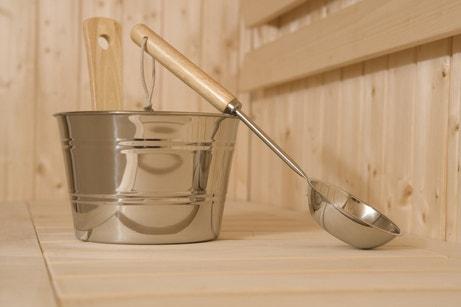 Un kit d'accessoires pour sauna