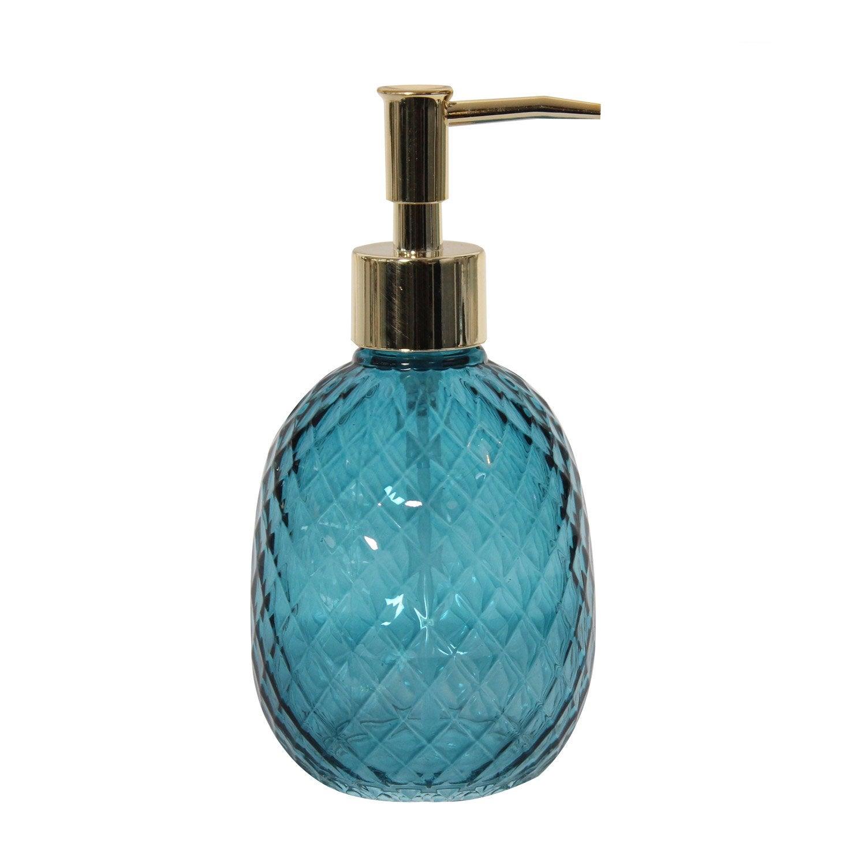 Distributeur de savon verre Rio, bleu