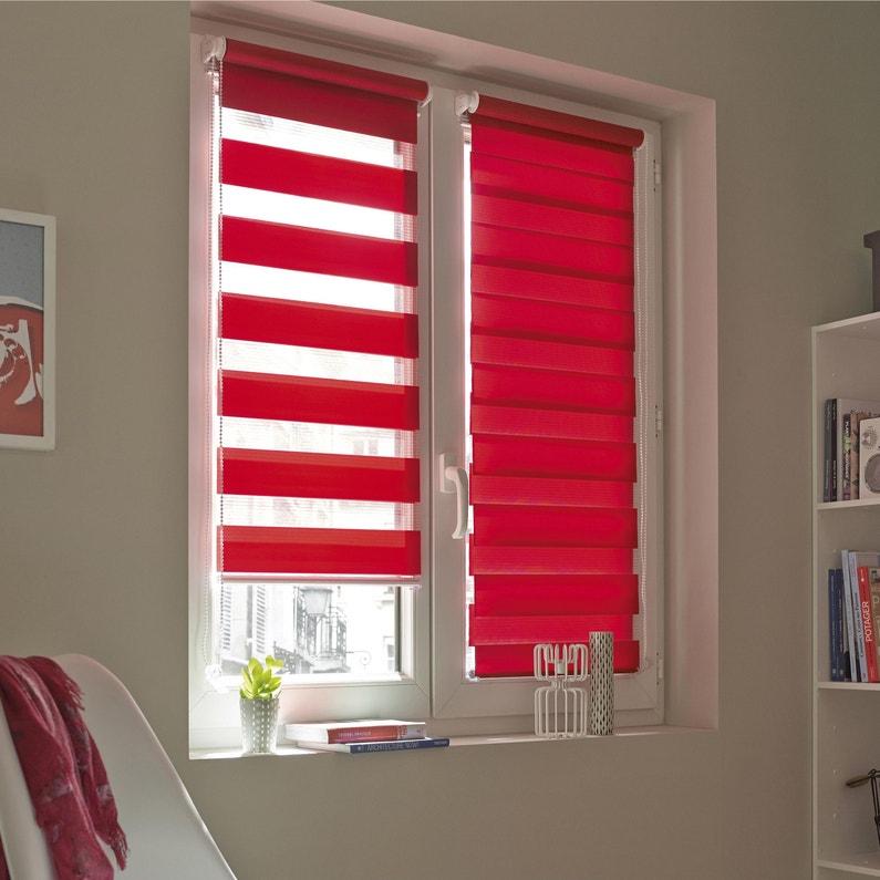 Store Enrouleur Jour Nuit Inspire Rouge Rouge N 3 41 X 160 Cm