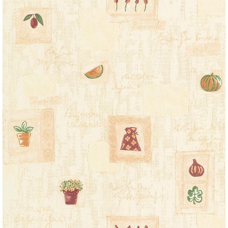 Papier Peint Lavande Beige Papier Cuisine Et Bain Leroy Merlin