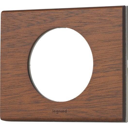 plaque simple c liane legrand acajou leroy merlin. Black Bedroom Furniture Sets. Home Design Ideas
