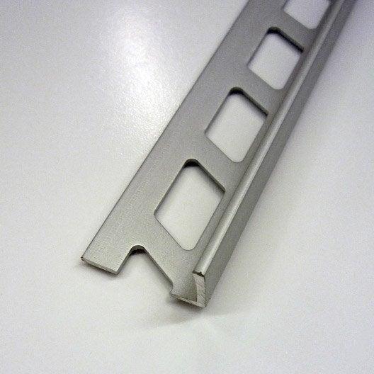 Equerre de finition carrelage mur aluminium anodis l 2 5 for Peindre aluminium anodise