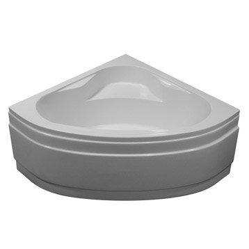 Baignoire d'angle L.115x l.115 cm blanc, SENSEA Access confort