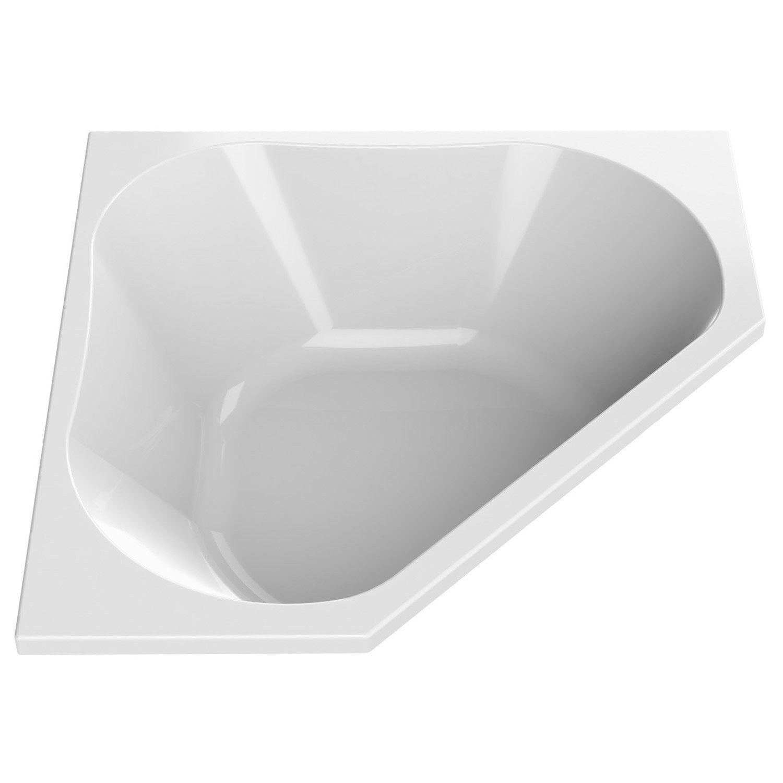 Baignoire d 39 angle cm blanc sensea premium for Salle bain baignoire d angle