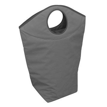 Panier à linge textile Color, gris, l.53 x H.78 x P.25 cm