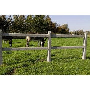 Poteau droit pour clôture en béton ajourée, L.175 x H.175 cm x Ep.100 mm