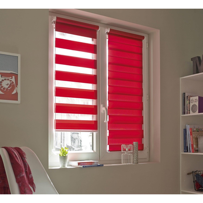 Store enrouleur jour / nuit INSPIRE, rouge rouge n°3, 46 x 160 cm