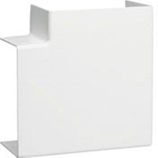 Angle plat blanc pour goulotte h 6 3 x p 4 5 cm leroy merlin - Cache clim leroy merlin ...