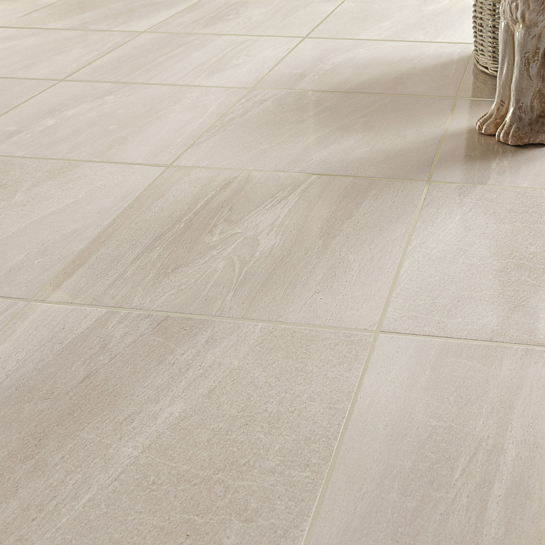 Carrelage sol et mur forte effet marbre crema Reverse l.44.7 x L.44.7 cm