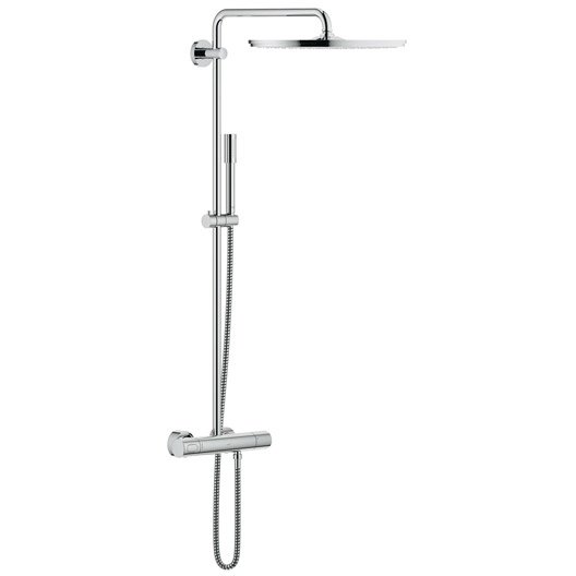 colonne de douche avec robinetterie grohe rainshower 400 leroy merlin. Black Bedroom Furniture Sets. Home Design Ideas