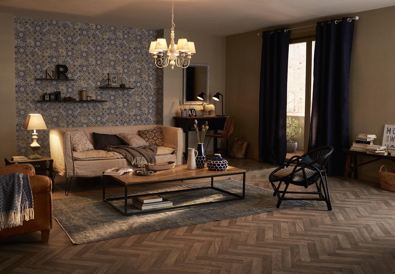 Un salon cosy et chaleureux au style campagne | Leroy Merlin
