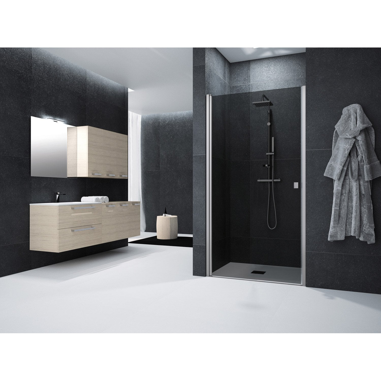 porte de douche pivotante 90 cm fum neo leroy merlin. Black Bedroom Furniture Sets. Home Design Ideas