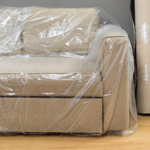 housse plastique clic clac Housse de fauteuil / petit meuble transparent x l.0 cm | Leroy Merlin housse plastique clic clac