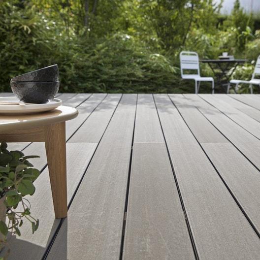 kit terrasse composite saga naterial gris 20 m leroy merlin. Black Bedroom Furniture Sets. Home Design Ideas