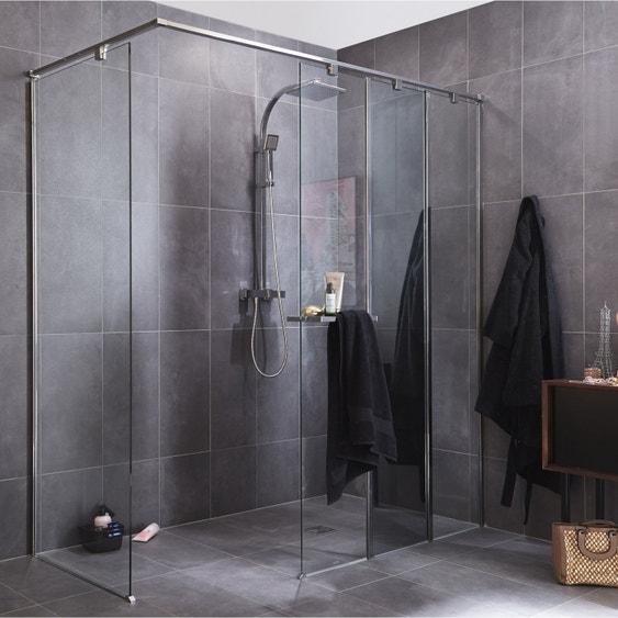 Nettoyer Paroi Douche En Verre paroi de douche à l'italienne, l.40 cm verre transparent 8 mm eliseo
