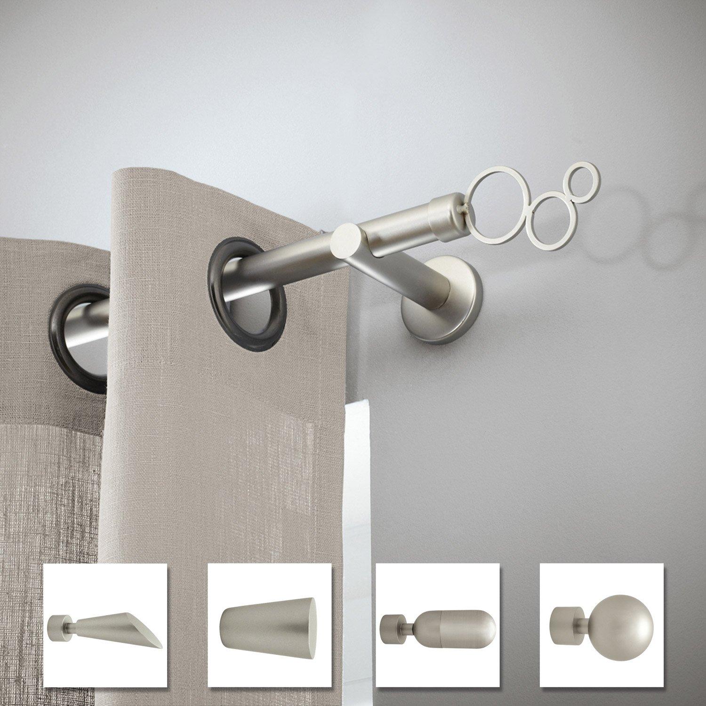lot de 2 supports extensibles tringle rideau design 20. Black Bedroom Furniture Sets. Home Design Ideas