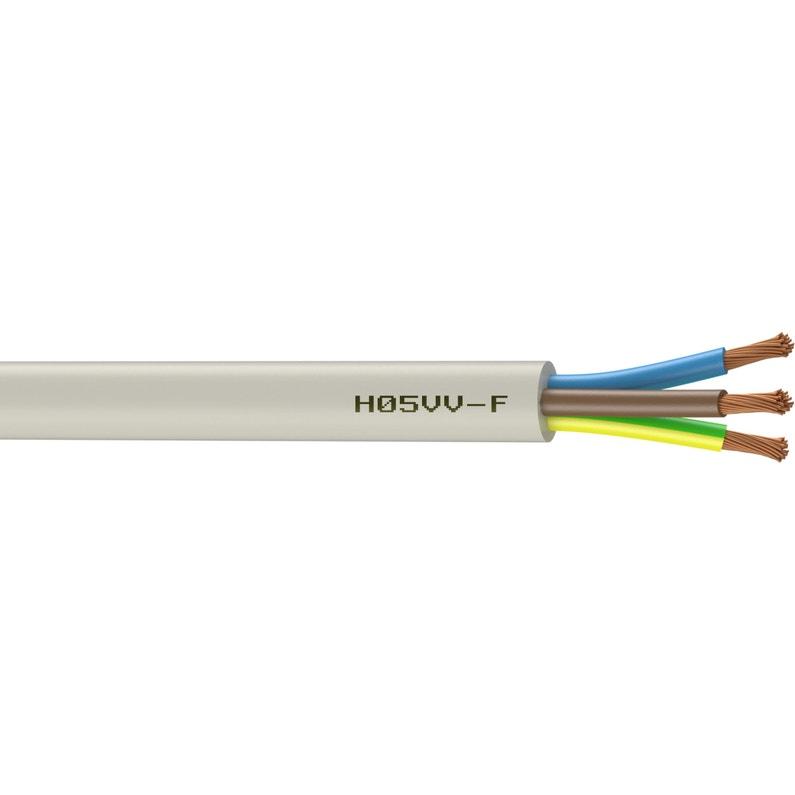 Câble électrique 3 G 25 Mm² Ho5vvf L3 M Blanc