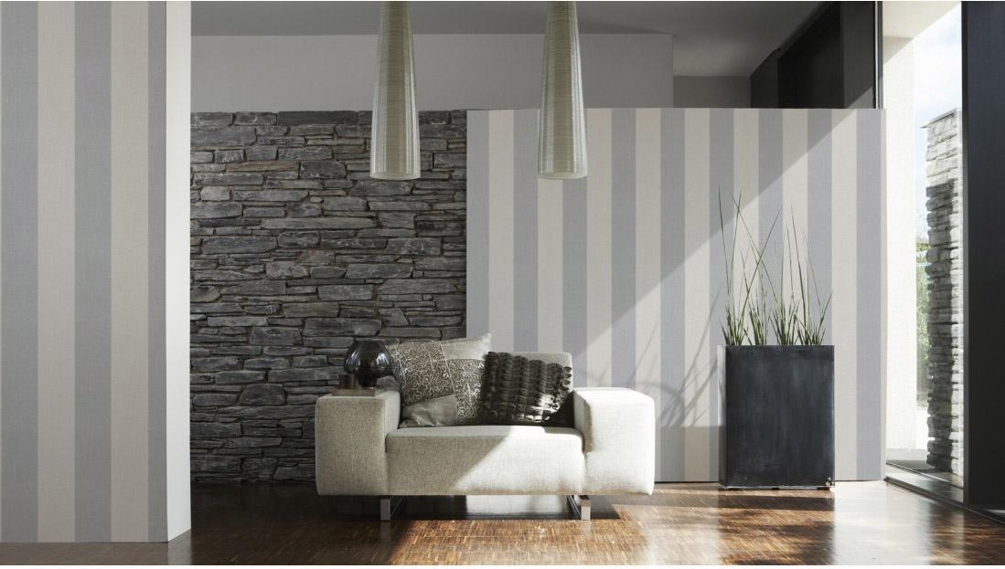 Papier peint intissé Baltic gris