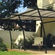 structure de tonnelle adoss e sydney acier gris fonc. Black Bedroom Furniture Sets. Home Design Ideas
