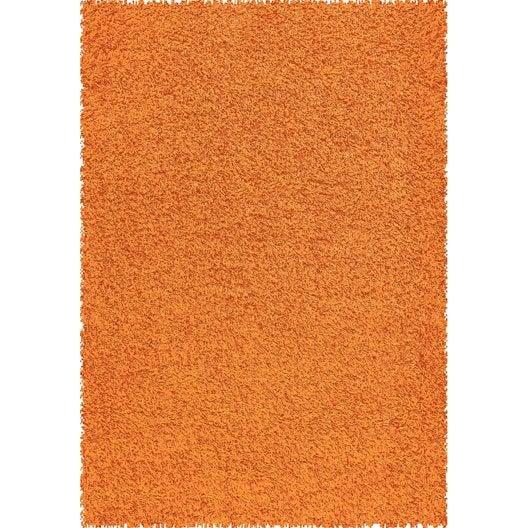 tapis orange shaggy pop x cm leroy merlin. Black Bedroom Furniture Sets. Home Design Ideas