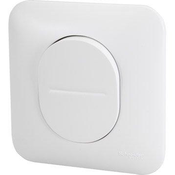 Interrupteur va-et-vient Ovalis, blanc, SCHNEIDER ELECTRIC