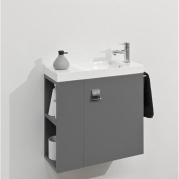 Lave main meuble et s che mains wc abattant et lave for Meuble lave main toilette