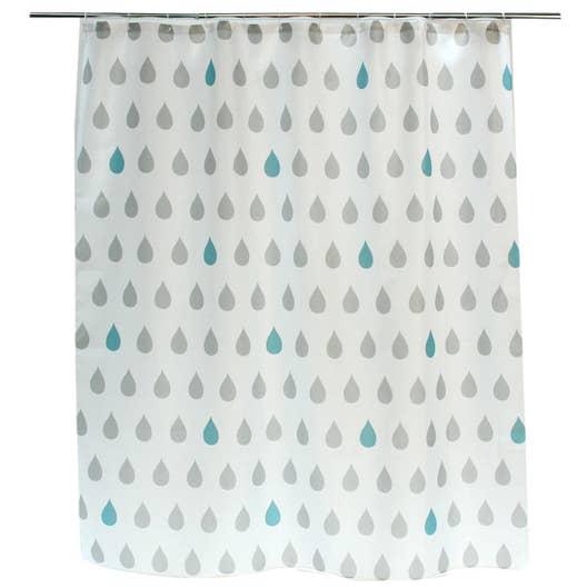 rideau de douche en textile gris galet n 3 x cm drop sensea leroy merlin. Black Bedroom Furniture Sets. Home Design Ideas