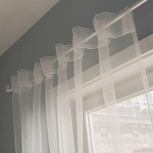 Voilage transparent atria blanc x cm leroy merlin for Voilage en lin