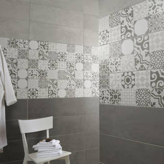 fa ence mur gris tadelak x cm leroy merlin. Black Bedroom Furniture Sets. Home Design Ideas
