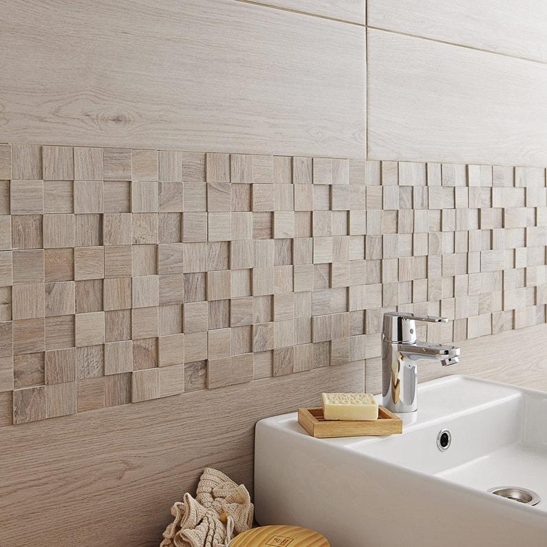 Faïence mur gris, Boreal l.20 x L.60 cm | Leroy Merlin