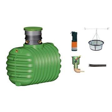 Cuve + accessoires récupération eau de pluie à enterrer Cristall GARANTIA, 1600l