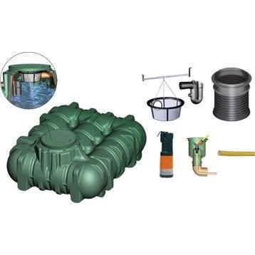 Cuve + accessoires récupération eau de pluie extraplate li-lo GARANTIA, 3000 l