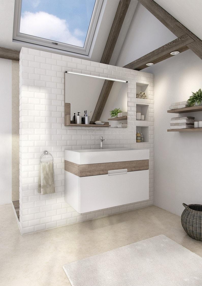 un meuble sous vasque pour une salle de bains zen leroy merlin. Black Bedroom Furniture Sets. Home Design Ideas