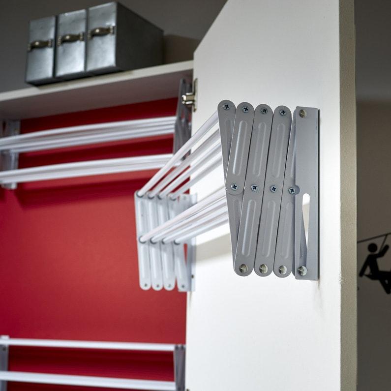 un tendoir mural blanc leroy merlin. Black Bedroom Furniture Sets. Home Design Ideas