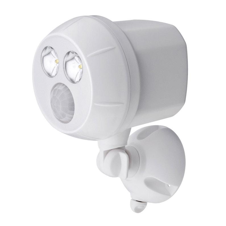 Projecteur à Détection à Piles 300 Lm Blanc Mr Beams