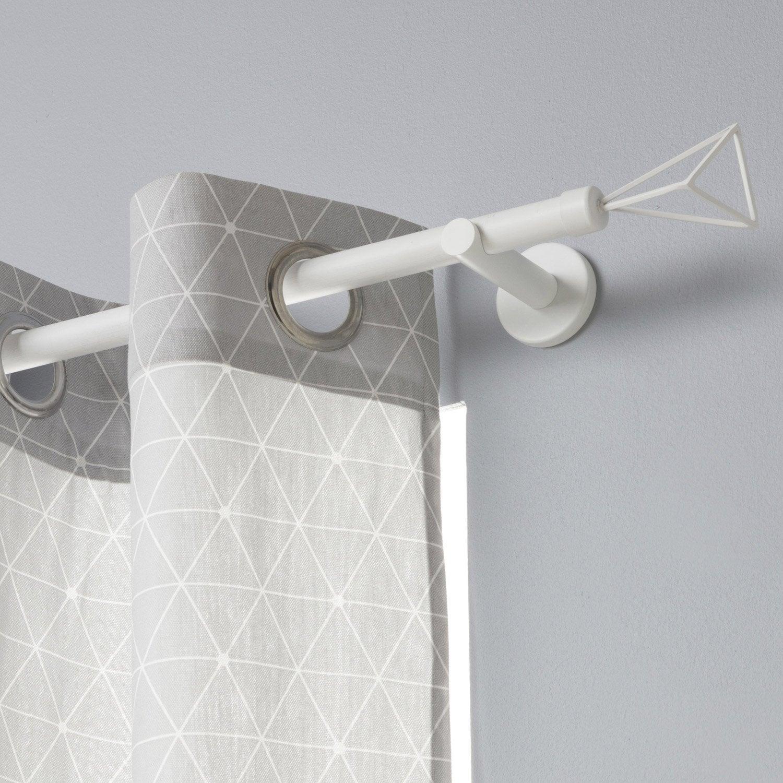 Tringle à rideau Design blanc mat 200 cm INSPIRE