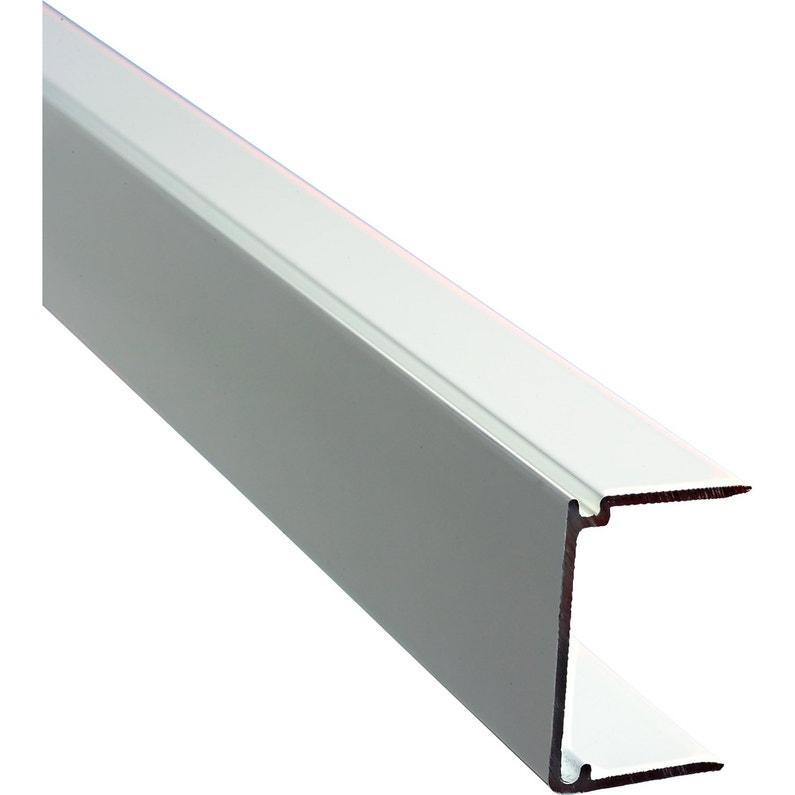 Profil Obturateur Pour Plaque Ep 32 Mm Blanc Laqué L125 M