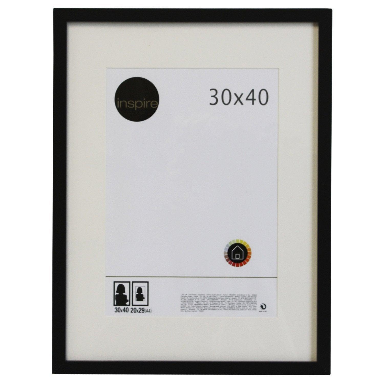 Cadre lario 30 x 40 cm noir noir n 0 leroy merlin - Leroy merlin marcos 30x40 ...