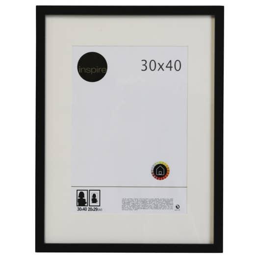 cadre lario 30 x 40 cm noir noir n 0 leroy merlin. Black Bedroom Furniture Sets. Home Design Ideas