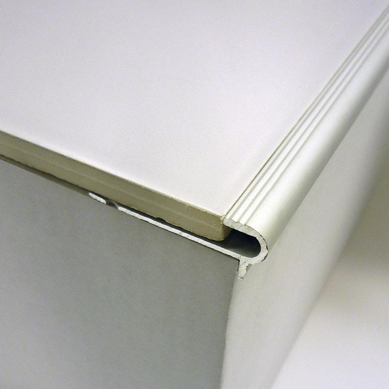 nez de marche florentin chrome l 4 6 x cm leroy merlin. Black Bedroom Furniture Sets. Home Design Ideas