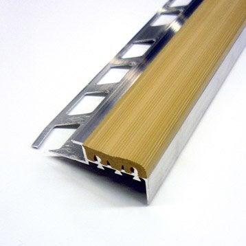 NDM ALU BRUT/PVC 10MM L1.25M BEIGE