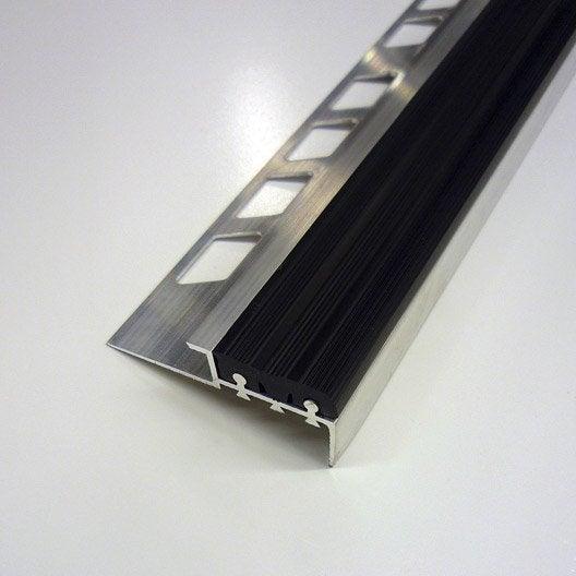ndm alu brut/pvc 10mm l1.25m noir | leroy merlin
