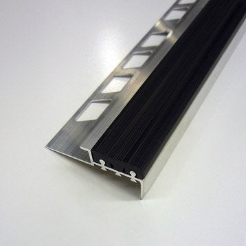NDM ALU BRUT/PVC 12.5MM L1.25M NOIR