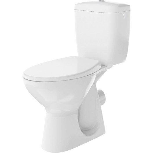 Wc poser wc abattant et lave mains toilette leroy - Wc lave main integre leroy merlin ...