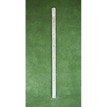 Piquet droit pour clôture en béton pleine, L.150 x H.150 cm x Ep.80 mm
