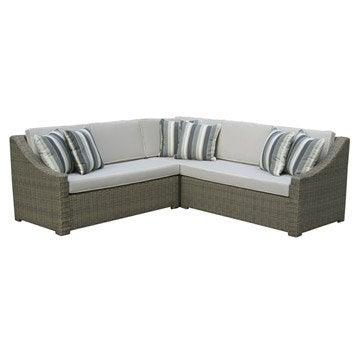 Salon bas de jardin canap fauteuil bas salon de - Canape angle jardin ...
